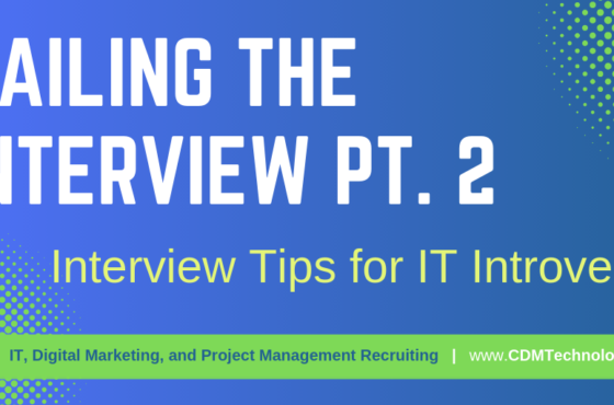CDM Technology Interview Tips IT Introverts